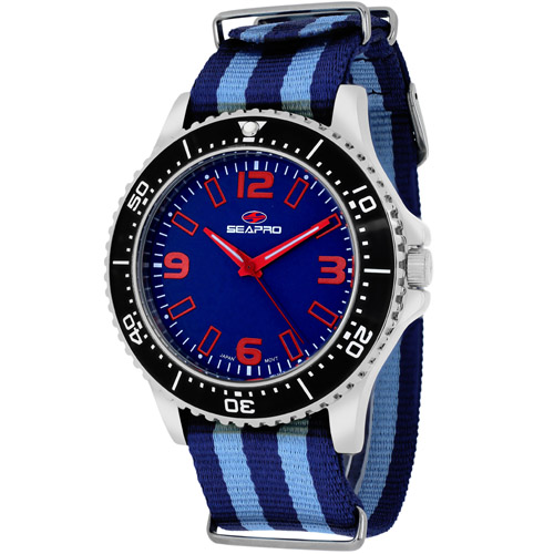 SP5313NBL Seapro Mens Tideway Blue and light blue Band Blue Dial