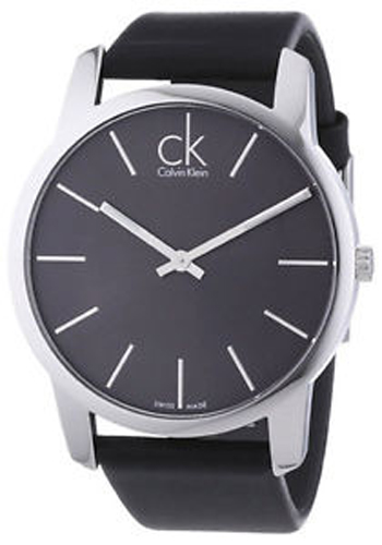 KOH23307 Calvin Klein Womens Classic Quartz Black Band Gray Dial
