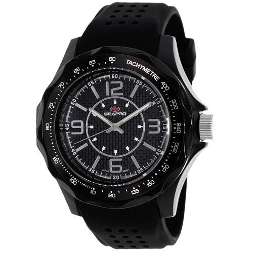 SP4110 Seapro  Mens Dynamic Black Band Black Dial
