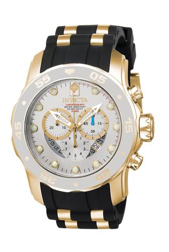6985 Invicta Mens Pro Diver  Black, Gold Band Charcoal Dial