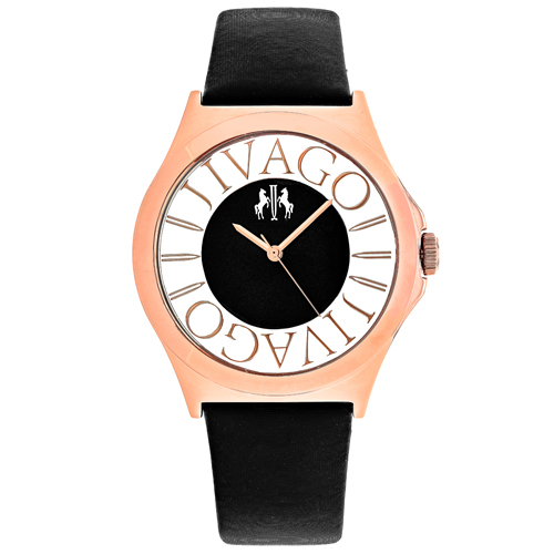 JV8431 Jivago Womens Fun Black Band Black Dial