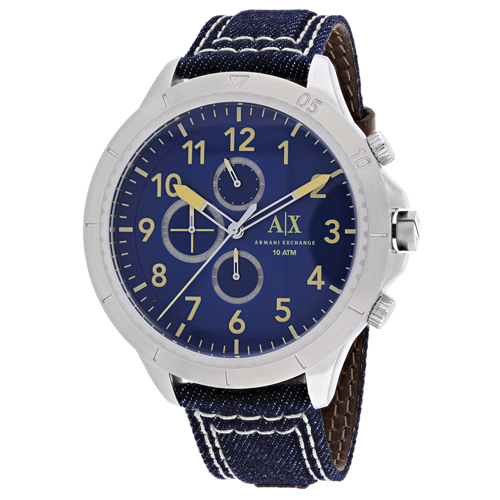 AX1756 Armani Exchange Mens Chronograph AX1756 Quartz Blue Band Blue Dial