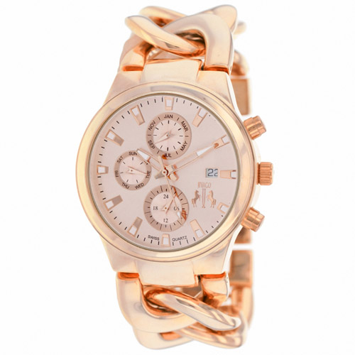 JV1224 Jivago Womens Lev Rose Gold Band Rose Gold Dial