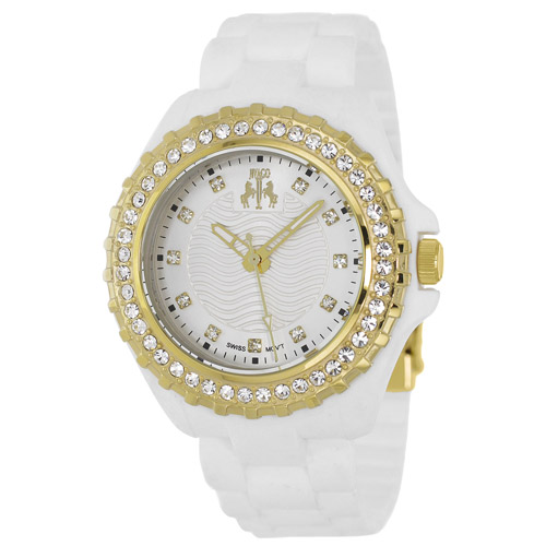 JV8214 Jivago Womens Cherie Swiss  Quartz  White Band Silver Dial