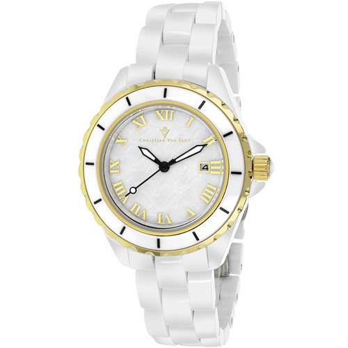 CV9411 Christian Van Sant Womens Palace Quartz White Band White MOP Dial