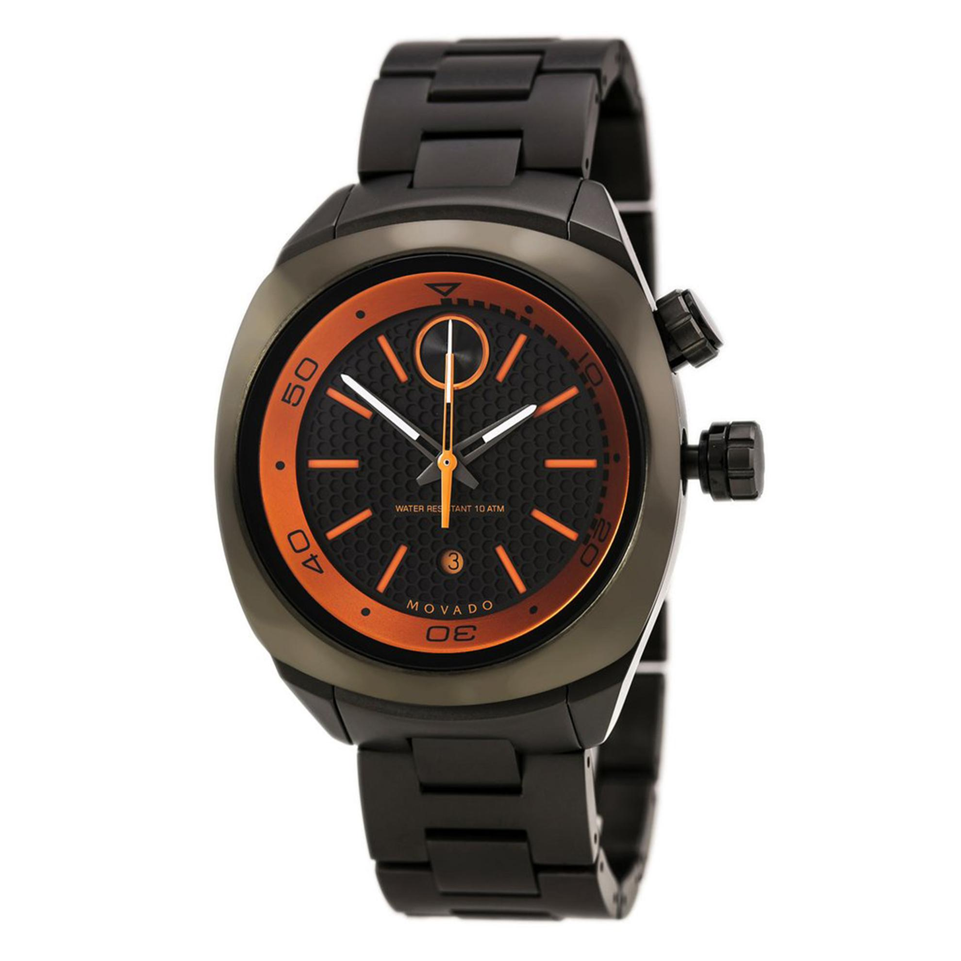 Movado 3600213 Movado Bold All Gunmetal Black/Orange Dial