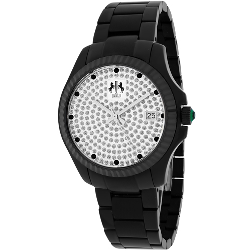 JV3211 Jivago Womens Jolie Black Band Diamonds Dial