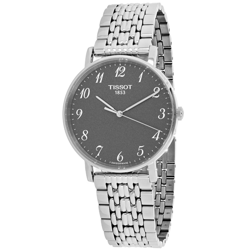 T1094101107200 Tissot Mens T-Classic T1094101107200 Silver Band Gray Dial