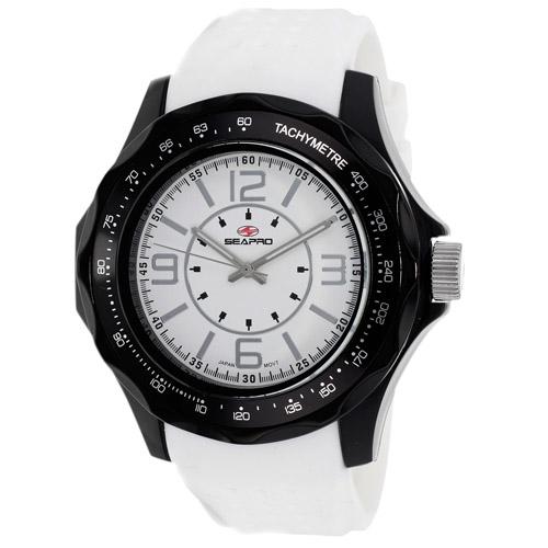 SP4112 Seapro  Mens Dynamic White Band White Dial