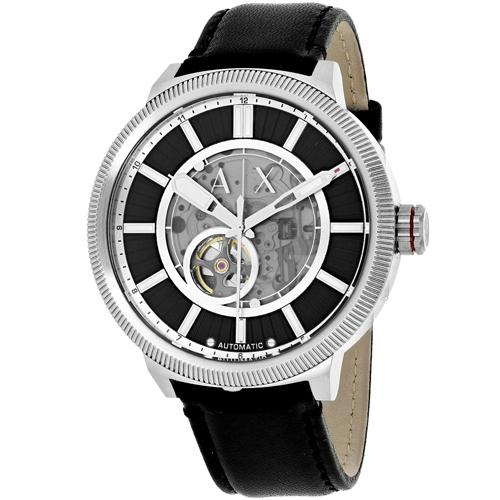 AX1418 Armani Exchange Mens Classic AX1418 Automatic Black Band Black Dial