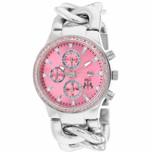 JV1228 Jivago Womens Lev Silver Band Pink Dial
