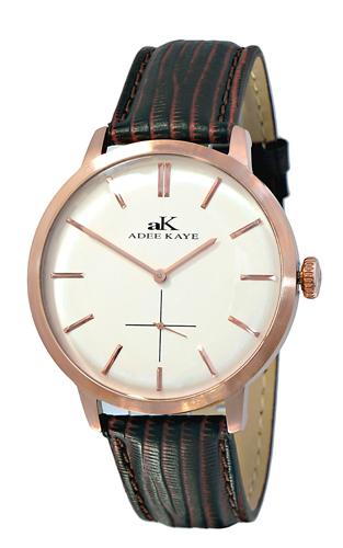 Adee Kaye AK2225-MRG-SV Adee Kaye Mens Classique Collection  quartz Rose tone White Band White Dial