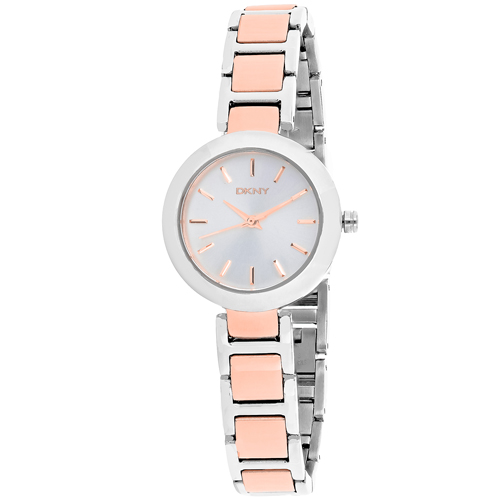 NY2402 DKNY Womens Stanhope Two-tone Rose gold and silver Band Silver  Dial