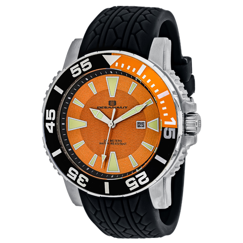 OC2915 Oceanaut Mens Marletta Black Band Orange Dial
