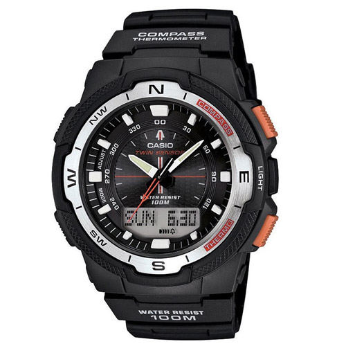 SGW-500H-1BV Casio Mens Sport Gear Quartz Black Band Black Digital-Analog dial Dial
