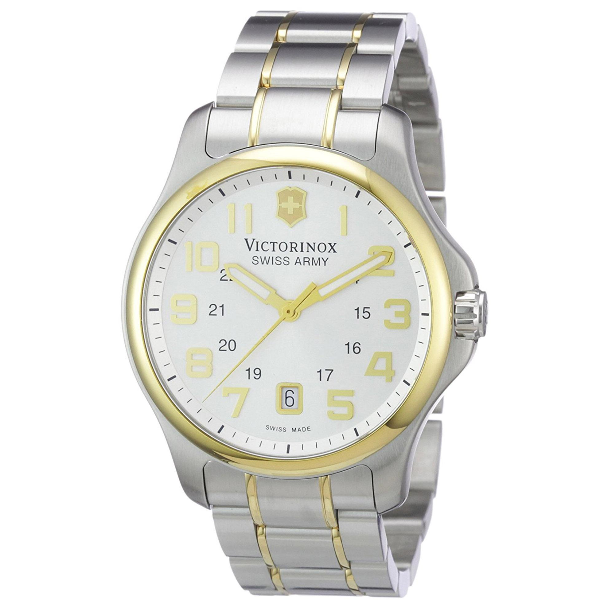 Victorinox 241362 Victorinox Swiss Army Officer Two-Tone Silver Dial