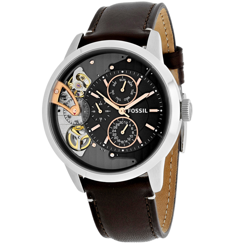 ME1163 Fossil Mens Townsman Brown Band Gray Dial