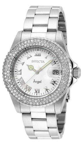20502 Invicta Womens Angel  Steel Band White Dial