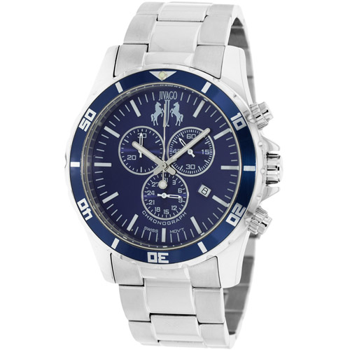 JV6127 Jivago Mens Ultimate Silver Band Blue Dial