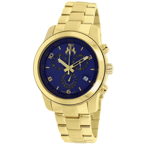 JV5227 Jivago Womens Infinity Gold Band Blue Dial