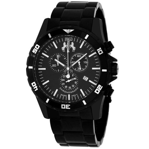 JV6120 Jivago Mens Ultimate Black Band Black Dial