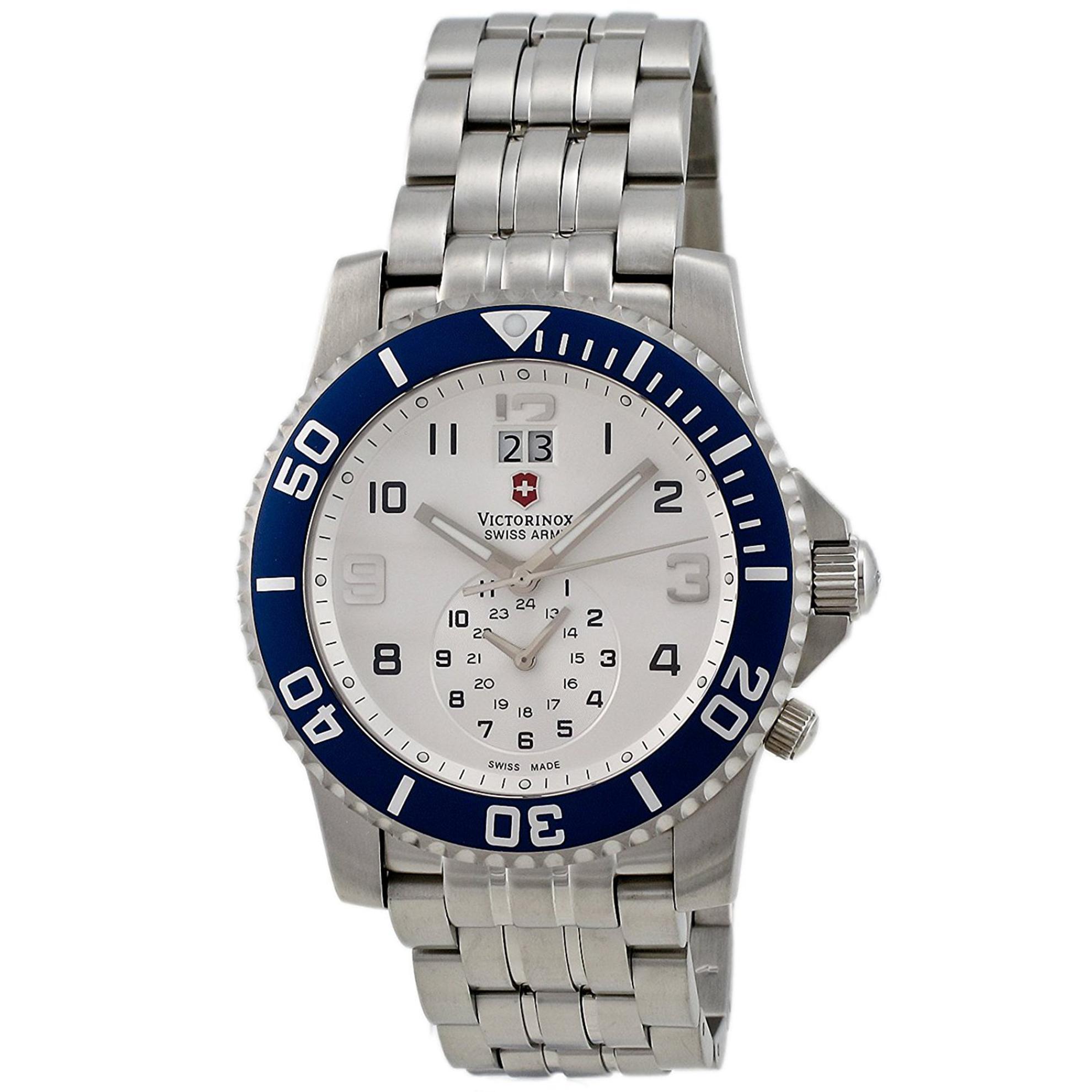 Victorinox 241183 Victorinox Swiss Army Maverick II SIlver Dial Blue Bezel