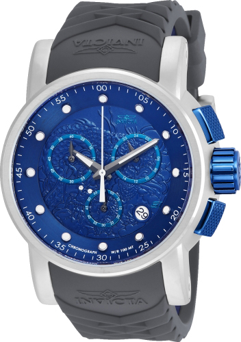21626 Invicta Mens S1 Rally  Grey, Blue Band Dark Blue Dial