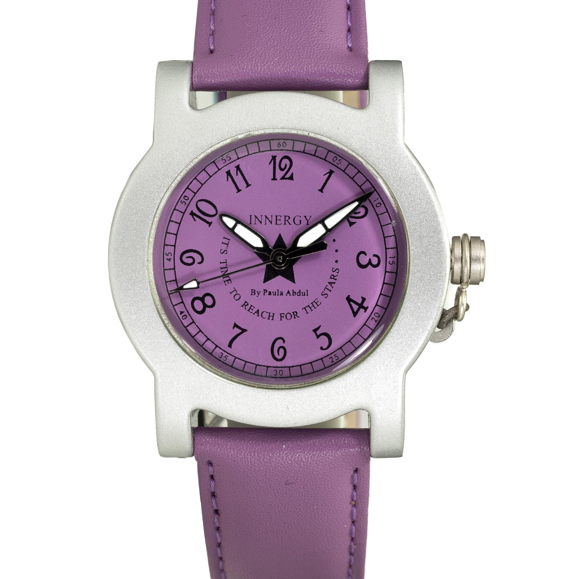 Innergy Swiss Made Timepiece Purple Leather Strap