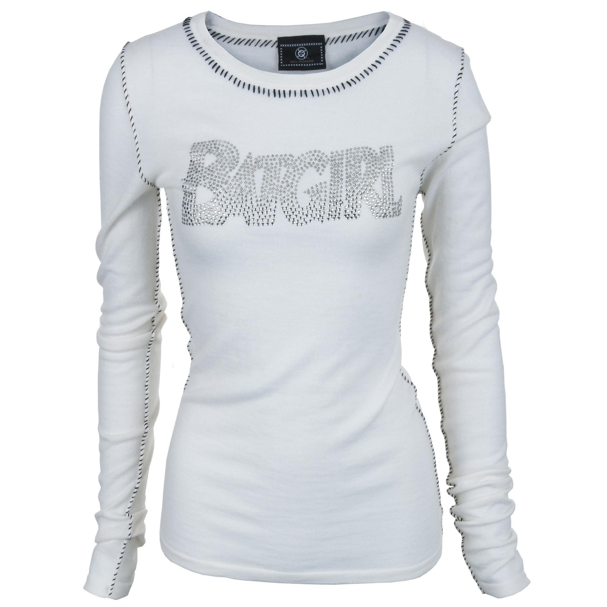 PCSH167ABG DC Comics 100% Cashmere Beaded BATGIRL Designer Collectible Sweater Ivory