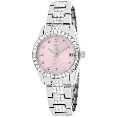 JV6414 Jivago Womens Magnifique Silver Band Baby Pink Dial