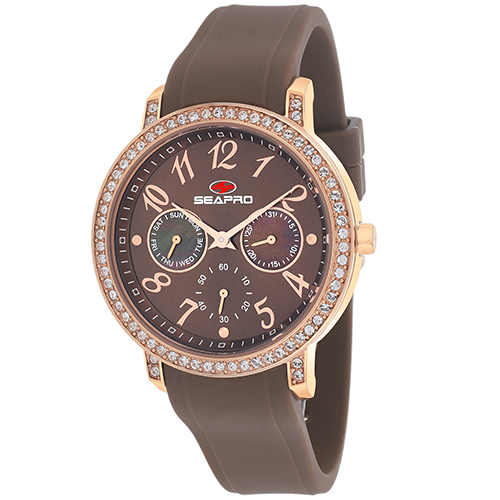 SP4414 Seapro Womens Swell Brown Band Brown Dial