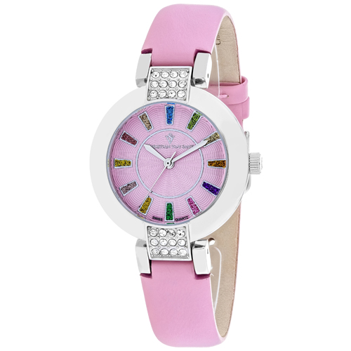 CV0441 Christian Van Sant Womens Celine Swiss parts Quartz Pink Band Pink Dial