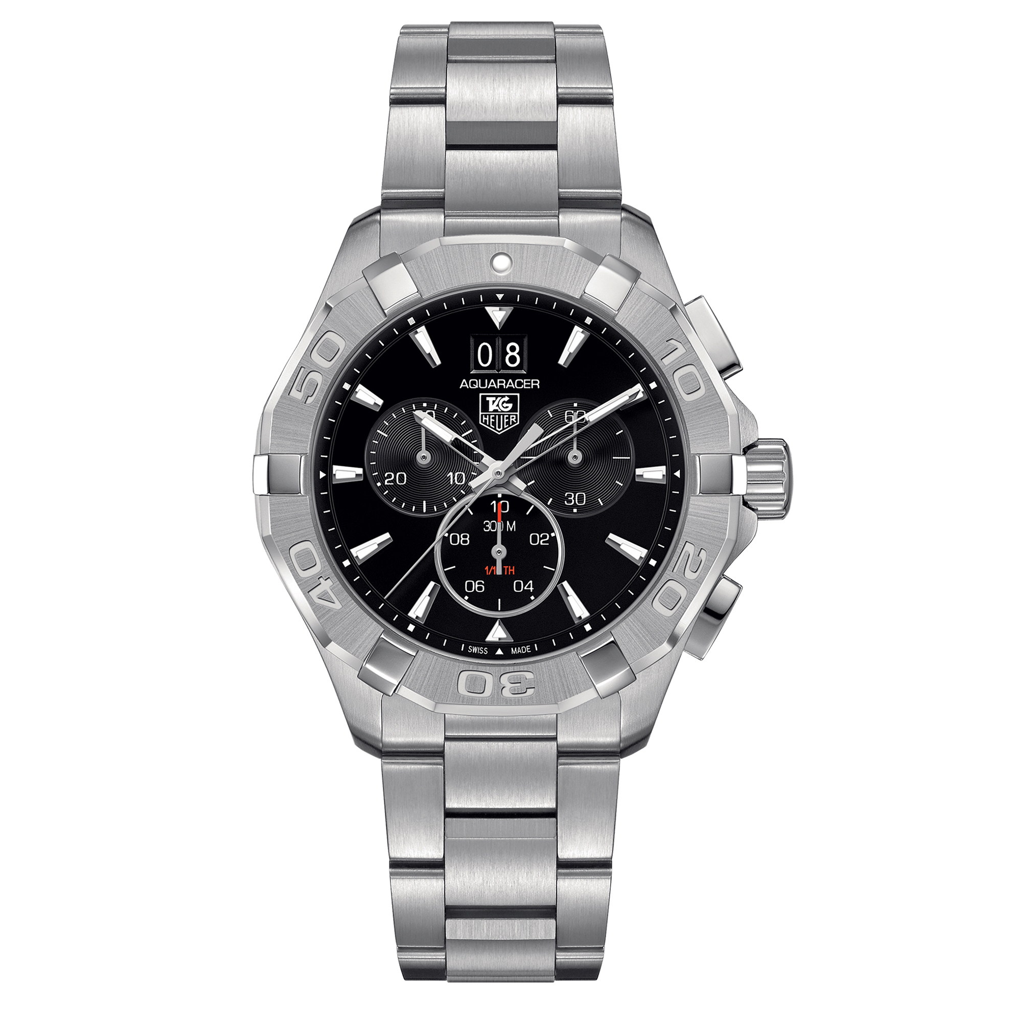 CAY1110.BA0927 Tag Heuer Aquaracer Chronopgraph Stainless Steel Black Dial