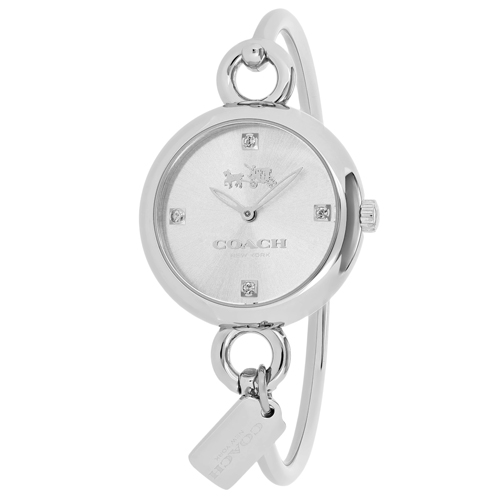 14502648 Coach Womens Hangtang Silver Band Silver Dial