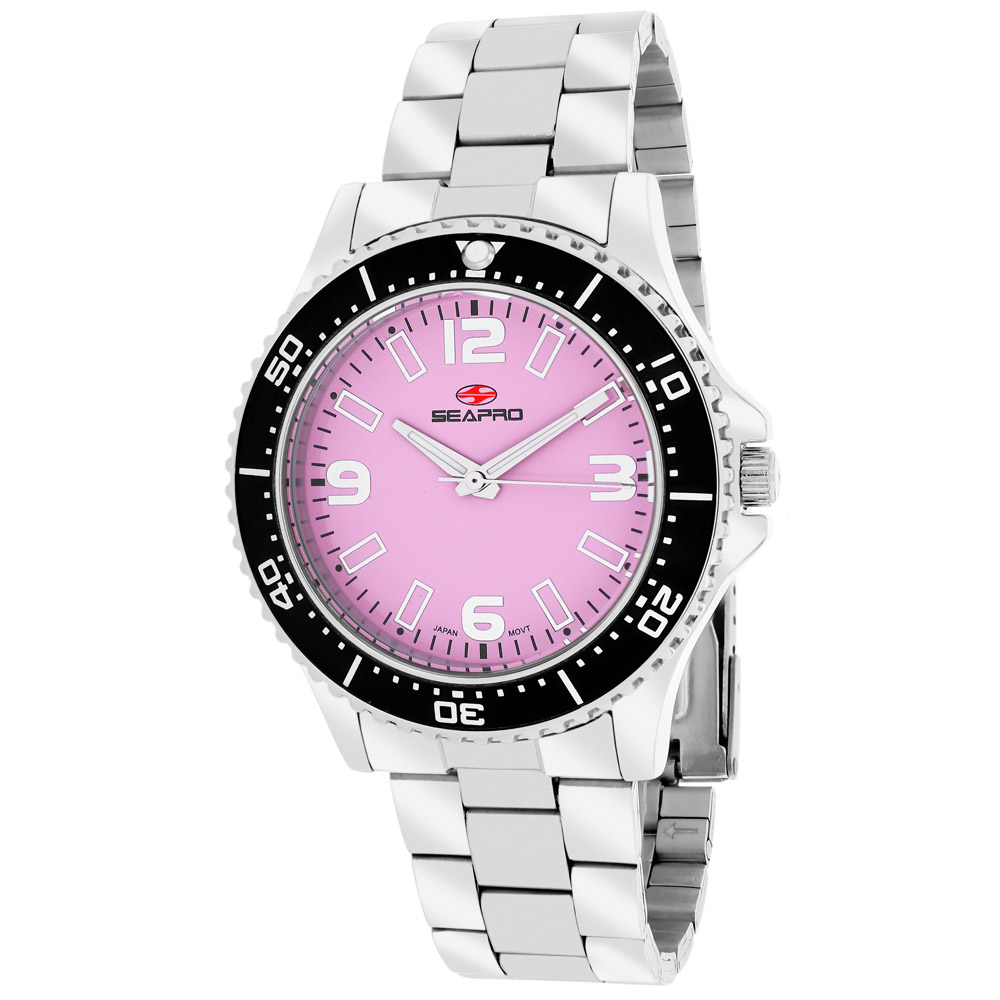 SP5412 Seapro Womens Tideway Silver Band Pink Dial