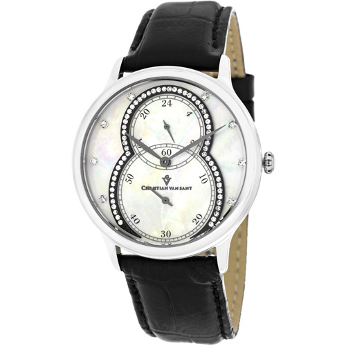 CV5410 Christian Van Sant Womens Infinie Quartz  Black Band White MOP Dial
