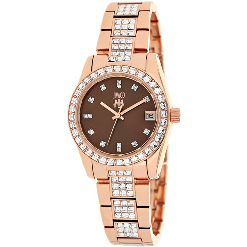 JV6413 Jivago Womens Magnifique Rose gold Band Chocolate brown Dial