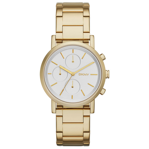 NY2274 DKNY Womens Soho Gold tone Band Silver Dial