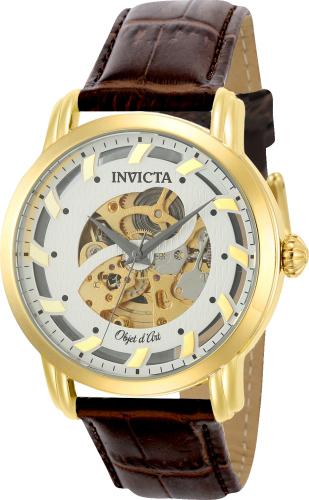 22634 Invicta Mens D Art Automatic Brown Band Black Dial