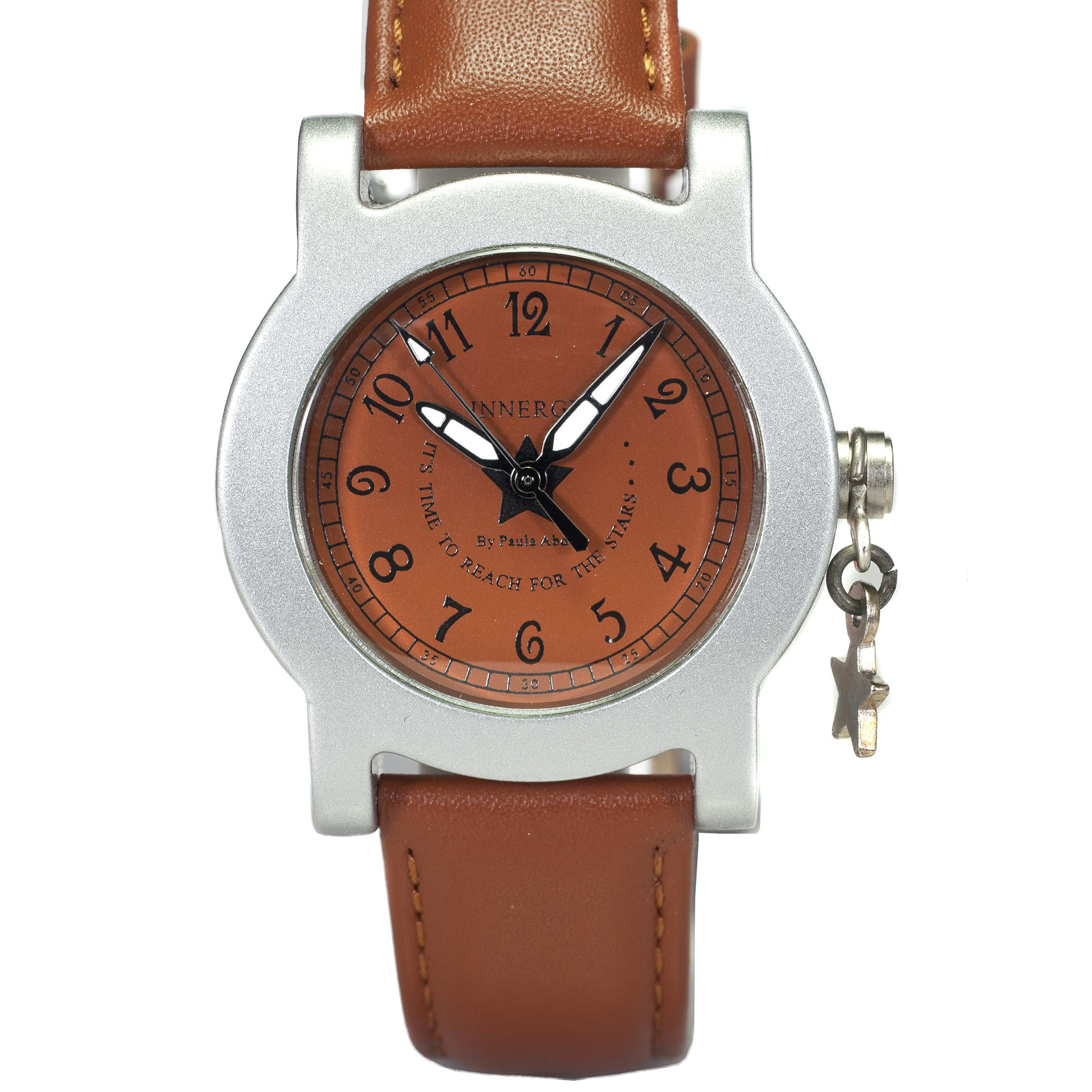 Innergy Swiss Made Timepiece Light Brown Leather Strap