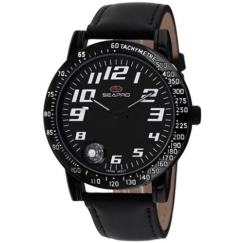 SP5112 Seapro  Mens Raceway Black Band Black Dial