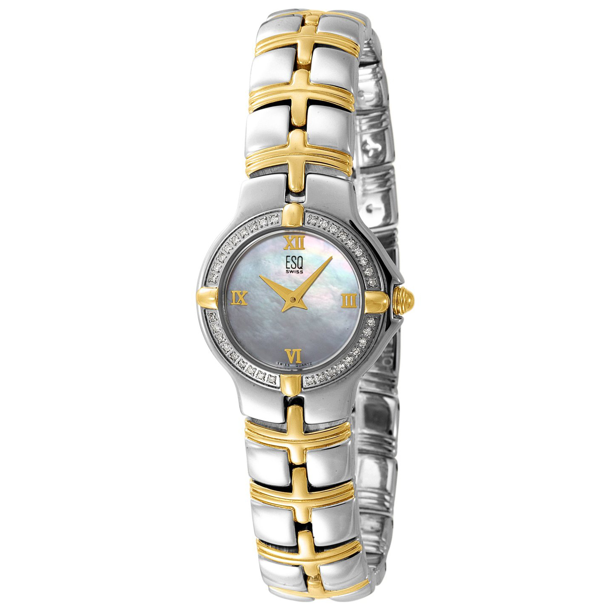 ESQ by Movado 7101116 ESQ by Movado Ladies Diamond Muse Two-Tone Mother of Pearl Dial