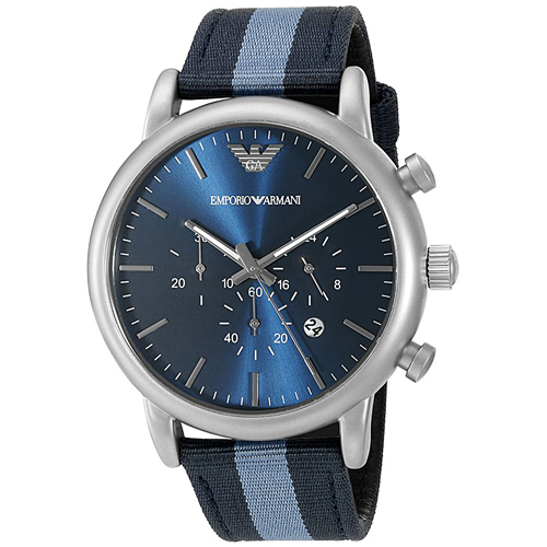 AR1949 Armani Mens Luigi AR1949 Blue and light Blue Band Blue Dial