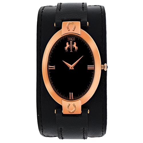 JV1831 Jivago Womens Good luck Swiss  Quartz  Black Band Black Dial