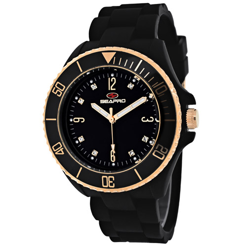 SP7412 Seapro Womens Sea Bubble Black Band Black Dial