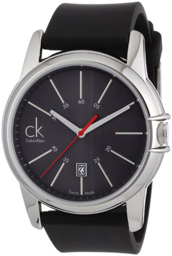 KOA21507 Calvin Klein Mens Classic Quartz Black Band Gray Dial