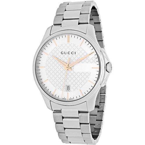 YA126442 Gucci Mens G-Timeless YA126442 Silver Band Silver Dial