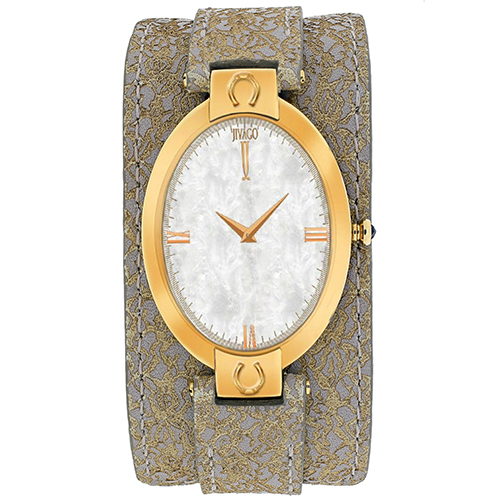 JV1836 Jivago Womens Good luck Light Brown Band White MOP Dial