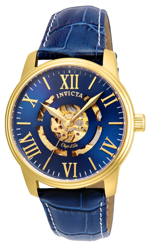22601 Invicta Mens Objet D Art  0 Band Navy Blue Dial