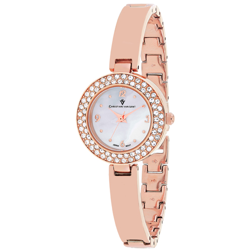 CV8613 Christian Van Sant Womens Palisades Rose gold Band White MOP Dial